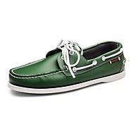 Férfi Vitorlás cipők Búvárcipő Kényelmes Bőr Tavasz Nyár Ősz Tél Hétköznapi Party és Estélyi Fűző Alacsony Zöld 1 inch alatt