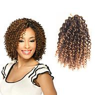 צמות קרלי תלתלי ג'רי 100% שיער קנקלון 100% ahgr קנקלון שחור / בינוני אובורן שחור / בורגונדי שחור / אפור חום בינוני שחור / סגול תוספות שיער
