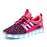 Djevojčice Sneakers Udobne cipele Svjetleće tenisice Til Proljeće Ljeto Jesen Atletski Kauzalni Hodanje LED Niska potpeticaCrn Zelen