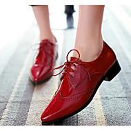 Feminino Saltos Conforto Verão Couro Ecológico Casual Preto Vermelho Azul 2,5 a 4,5 cm
