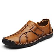Herren Schuhe Nappaleder Herbst Winter Komfort Loafers & Slip-Ons Kombination Für Normal Party & Festivität Schwarz Braun Dunkel Braun