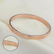 Small square titanium bracelet rose gold bracelet Korea fashion accessories