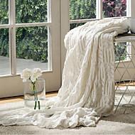 Tricotado Sólido Algodão / Poliéster cobertores