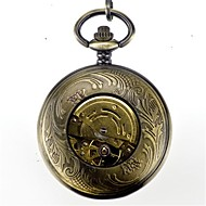 Men's Pocket Watch Automatic self-winding Alloy Band Vintage Bronze