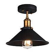 Průmyslové stropní světlo semi flush vintage kovový 1-světelný závěs osvětlení stín lustr
