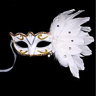 1kpl pieni hattu hiusnauha halloween puku puolue tasainen kulta hopea naamiointi naamio sulka maalaus maski