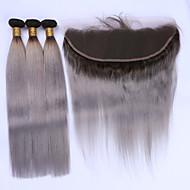 Hiukset kude sulkeminen Brasilialainen Straight 12 kuukautta 4 osainen hiukset kutoo kg Nopeat irtohiukset