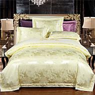 Poplun Cover Sets Geometrijski 4 komada Silk/Cotton Blend Jacquard Silk/Cotton Blend 4kom (1 duvet Cover, 1 Stan list, 2 Shams)