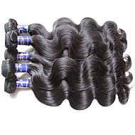 real top grade quality peruvian body wave virgin hair 6bundles 600g lot for two head weaves natural black color unprocessed human hair extensions