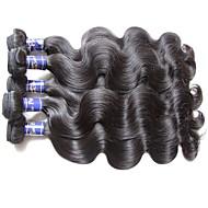 gerçek üst sınıf kalite perulu vücut dalga bakire saç 6bundles 600g çok iki baş örgüler için doğal siyah renk işlenmemiş insan saç