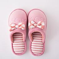 Γυναικείο Παντόφλες & flip-flops Ανατομικό Χειμώνας Χνούδι Causal Μαύρο Ροδακινί Ροζ Επίπεδο