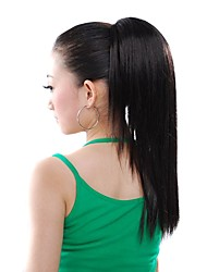 Synthetic Hairpiece - Extra Long Black Straight Ponytail