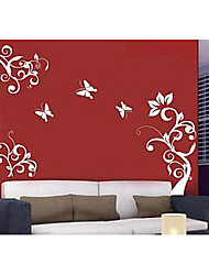 Wall Sticker - Butterfly Flower (0565 - gz033)