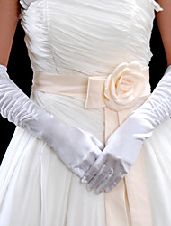 Elastic Satin Elbow  Wedding Gloves (ST004)
