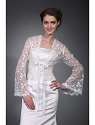 Long Sleeves Tulle  Lace Bridal Jacket / Wedding Wrap (WSM0405)