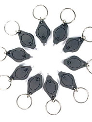 Black Flashlight Keychain 22000mcd 10-pack