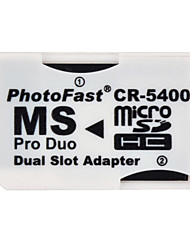 Dual Micro SD/TF SDHC to MS Pro Duo Memory Card Adapter