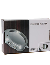 USB Coffee Warmer + 4 Port USB 2.0 Hub
