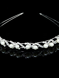Headpieces Gorgeous Clear Crystals And Imitation Pearls Bridal Tiara