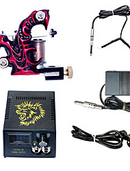 1 handmade Tattoo Maschine und LCD Power Supply Combo
