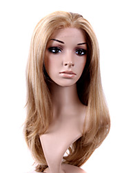 Hand Tied Style Lace Front Long High Quality Synthetic Natural Look Light Blonde Straight Hair Wig