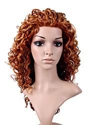 mão amarrada estilo laço muito alta qualidade sintética aparência natural peruca de cabelo dourado encaracolado (0.479-6,30-ah-0001-c)