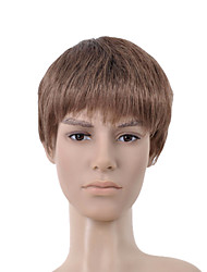 Capless Short Brown Straight Hair Wig