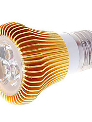 Faretti 3 LED ad alta intesità E27 3 W 270 LM 3000-3500K K Bianco caldo AC 85-265 V
