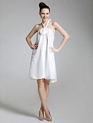 Fourreau / Colonne Licou Mi-long Taffetas Soirée Cocktail Retour Robe avec Fleur(s) par TS Couture®