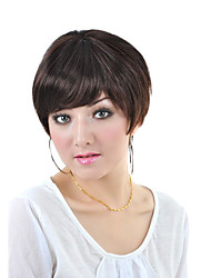 Capless Short High Quality Synthetic   Nature Look Light Brown Straight Hair Wig