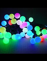 5M Colorful Light LED Ball String Lamp (110/220V)