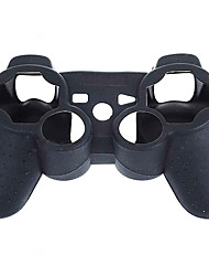 estuche negro de silicona protectora para el mando de PS3