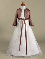 Longsleeves Taffeta Bridal Jacket/ Wedding Wrap (52028)