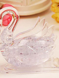 Gifts Bridesmaid Gift Crystal Swan - 3D Crystal Puzzle Swan Transparent & Pure Swan