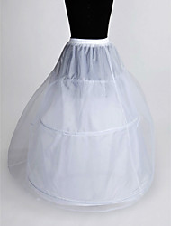 Nylon A-Line Full Gown 2 Tier Floor-length Slip Style/ Wedding Petticoats