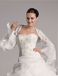 Illusion Longsleeves Organza Lace Bridal Jacket/ Wedding Wrap (142462)