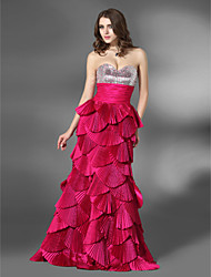 A-line Sweetheart Floor-length Taffeta Sequined Evening/Prom Dress