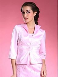 3/4-length Satin Bridal Jacket/ Wedding Wrap (52036)