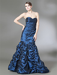 Trumpet/ Mermaid Sweetheart Strapless Floor-length Taffeta Prom/ Evening Dress