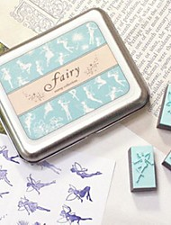 Fairies DIY Craft Stamp Set – Blue Ink