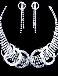 Rhinestones & Rings Bridal Necklace And Earring Set