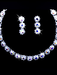 Gorgeous Alloy With Colorful Rhinestones Wedding Bridal Jewelry Set,Including Necklace And Earrings