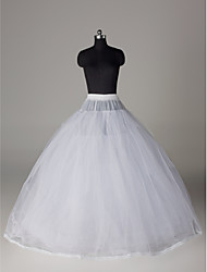 Slips Ball Gown Slip Floor-length 8 Nylon Tulle Netting White