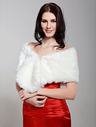 Shawls Sleeveless Feather/Fur White Party/Evening Clasp