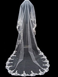 1 Layer Cathedral Length Wedding Veil 500cm length
