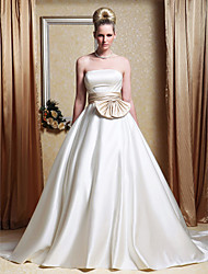 LAN TING BRIDE A-line Princess Wedding Dress - Classic & Timeless Elegant & Luxurious Wedding Dress in Color Vintage Inspired Chapel Train