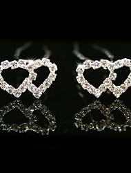 strass magnifiques broches de mariée mariage, 2 pièces