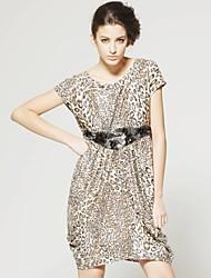 ts sin respaldo leopardo vestido de cuello capucha