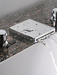 Wasserfall Waschbecken Wasserhahn (verbreitet) - verchromt