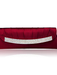 Women Silk Event/Party Evening Bag White / Gold / Red / Gray